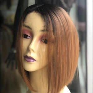 Short ombré honey brown Lacefront Wig 2019 style